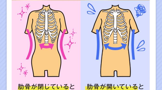 【新事実】くびれがない!ポッコリお腹の原因は 開きっぱなしの肋骨にあった!?